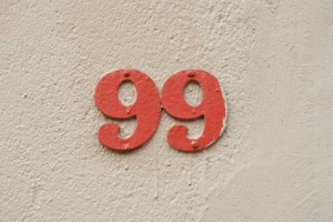 House Number ninety-nine sign