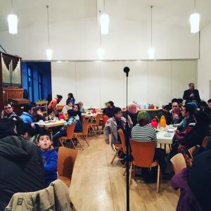 refugees welcome beim Nachbarschaftstalk in Lankwitz